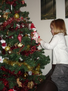 "Lilly made continual ""tweaks"" to the Christmas tree decorations..."